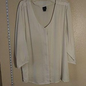 Cream color plus size blouse 3x